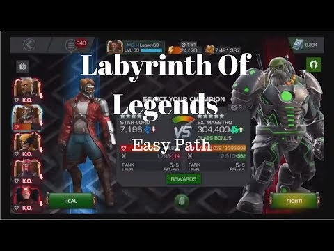 Labyrinth of Legends Full Run! (Easy path) 4* SL!