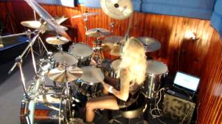 Jully Lee (Drummer Girl) COZY POWELL TRIBUTE- STARGAZER (RAINBOW) 2/3