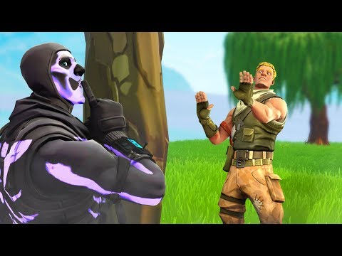I went invisible in Fortnite Playground and acted toxic...