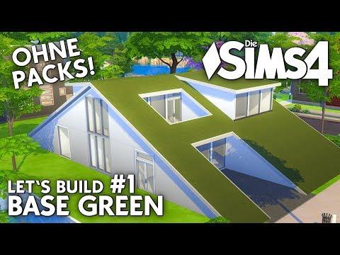 Die Sims 4 Haus Bauen Ohne Packs Base Green Villa Deutsch Youtube