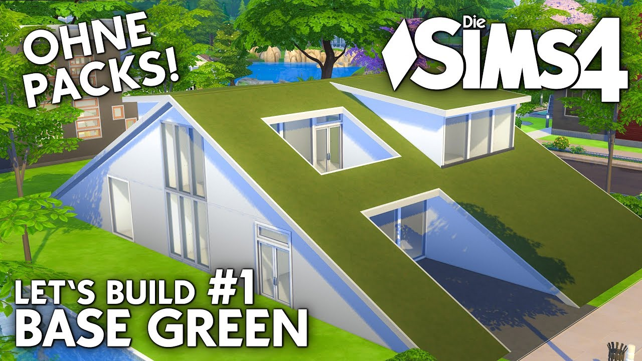 Die sims 4 haus bauen ohne packs base green 1 for Sims 4 dach bauen