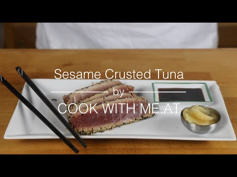Sesame Crusted Tuna - Easy Grilled Tuna Steak Recipe - COOK WITH ME.AT