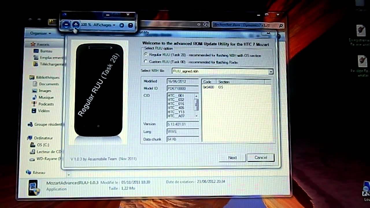 Htc windows phone 8x le est pictures -  Tuto Comment Flasher Son Htc 7 Mozart Trophy Hd7