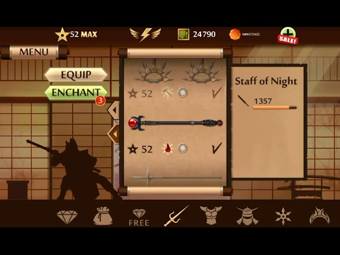 Shadow Fight 2 TOP Staff Weapon | Shadow Fight 2 Top Weapons Updated