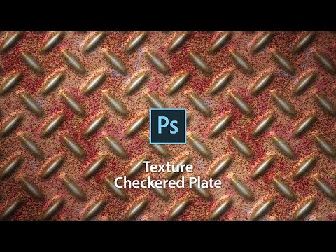 Make from scratch! The texture of the Checkered Plate in Photoshop thumbnail