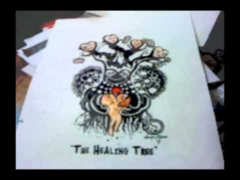 Angie Mason Mono Print - The Healing Tree Preview For Sacred Gallery NYC