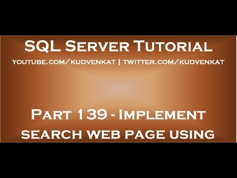 Implement search web page using asp net and stored procedure youtube implement search web page using asp net and stored procedure maxwellsz