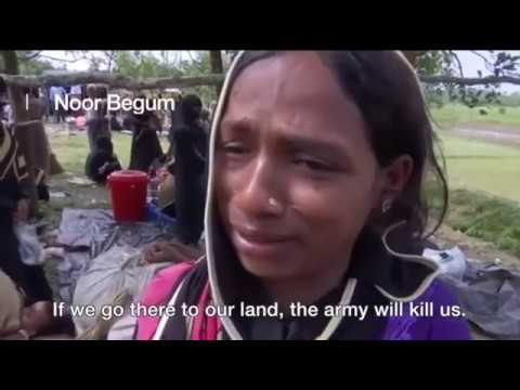 Myanmar Rakhine: Rohingya Women Weep On Bangladesh Border
