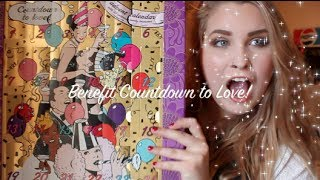 Benefit COUNTDOWN TO LOVE Advent Calendar Unboxing & Review! ♡