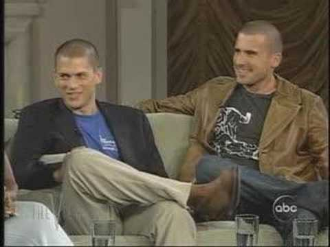 Wentworth Miller and Dominic Purcell   The View