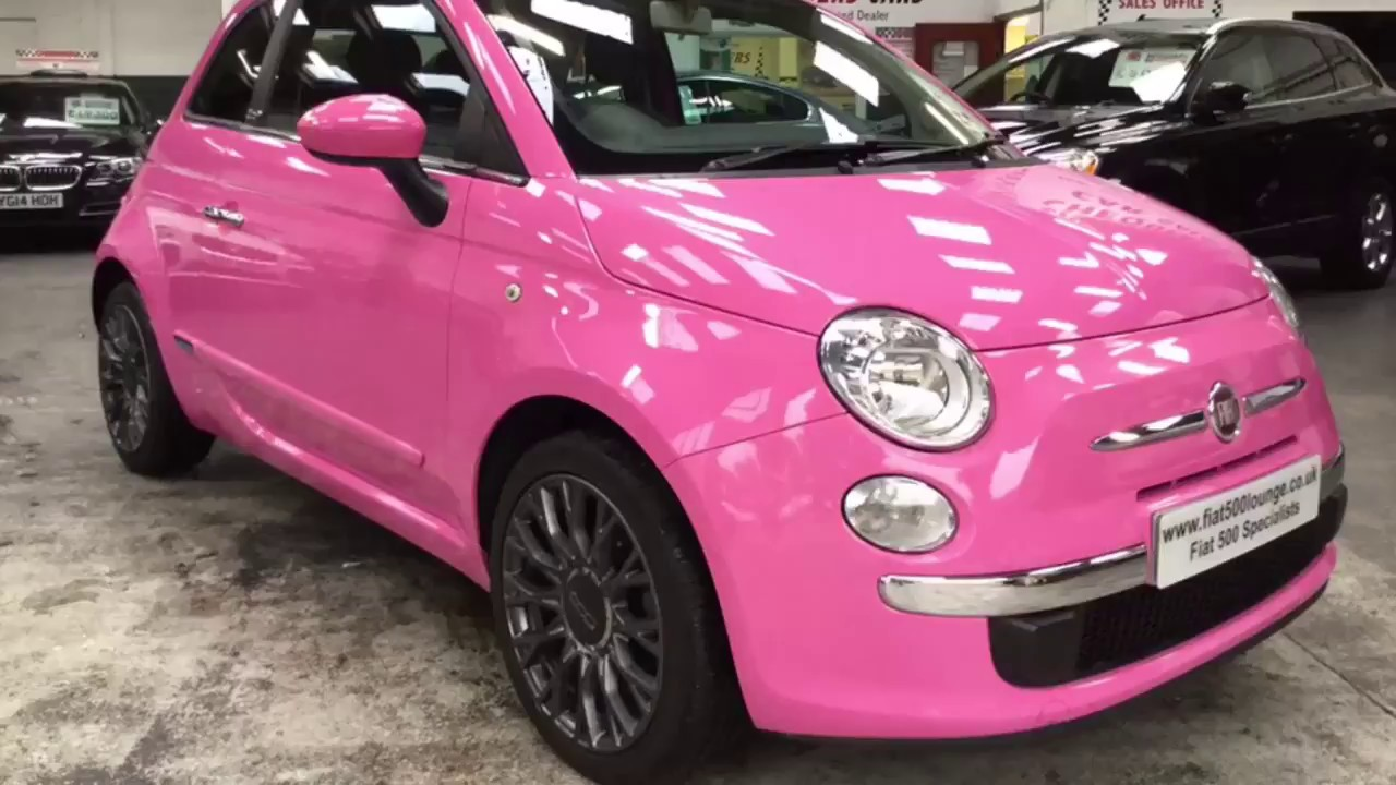 pink fiat 500 youtube. Black Bedroom Furniture Sets. Home Design Ideas