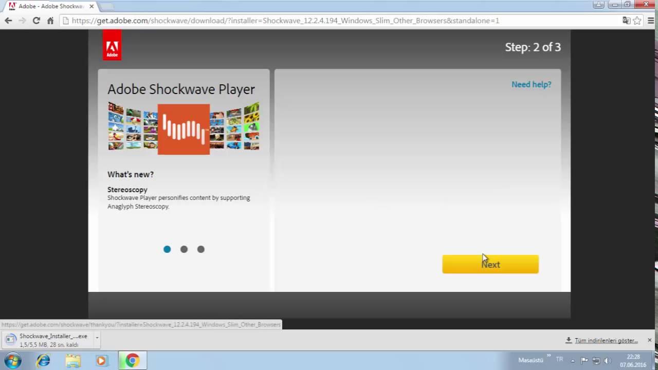 Adobe Shockwave Player indirme ve Kurulum Videosu izle