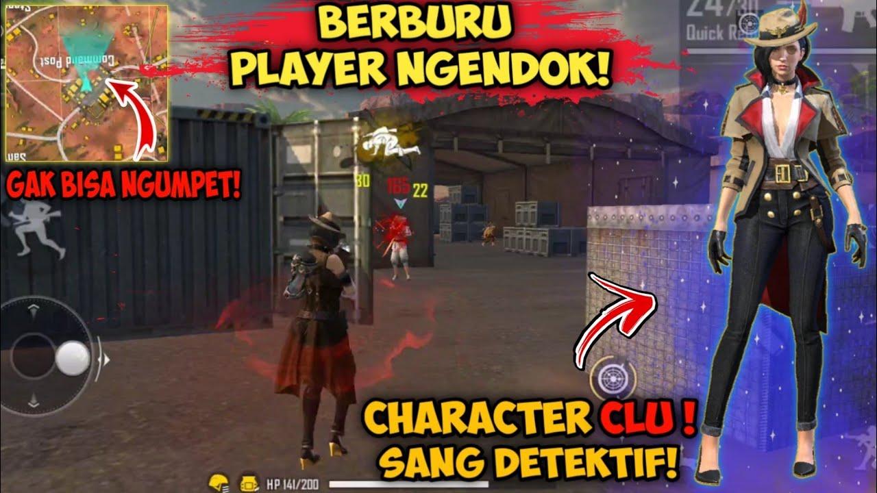 BERBURU PLAYER NGENDOK! PAKE CHAR BARU - CLU SANG DETEKTIF | GARENA FREE FIRE