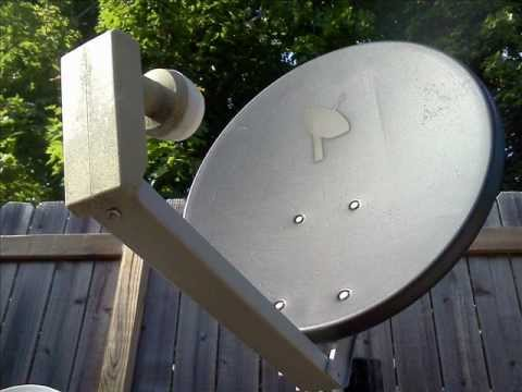 Black Satellite Dish with PSB LOGO