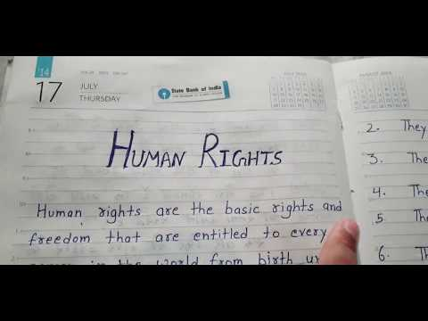Easy Human rights essay//what is human rights and its characteristics