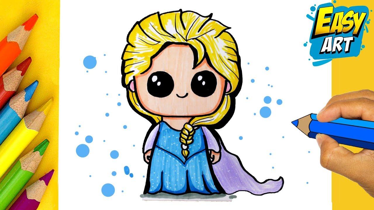 Como Dibujar Elsa Frozen 2 Kawaii Coloring And Drawing Elsa