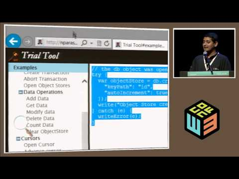 "Parashuram Narasimhan, ""Writing for Web pages for the offline world"" at W3Conf 2013"