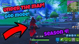 Fortnite Glitches Season 4 (New) Under the map God mode Glitch PS4/Xbox one 2018
