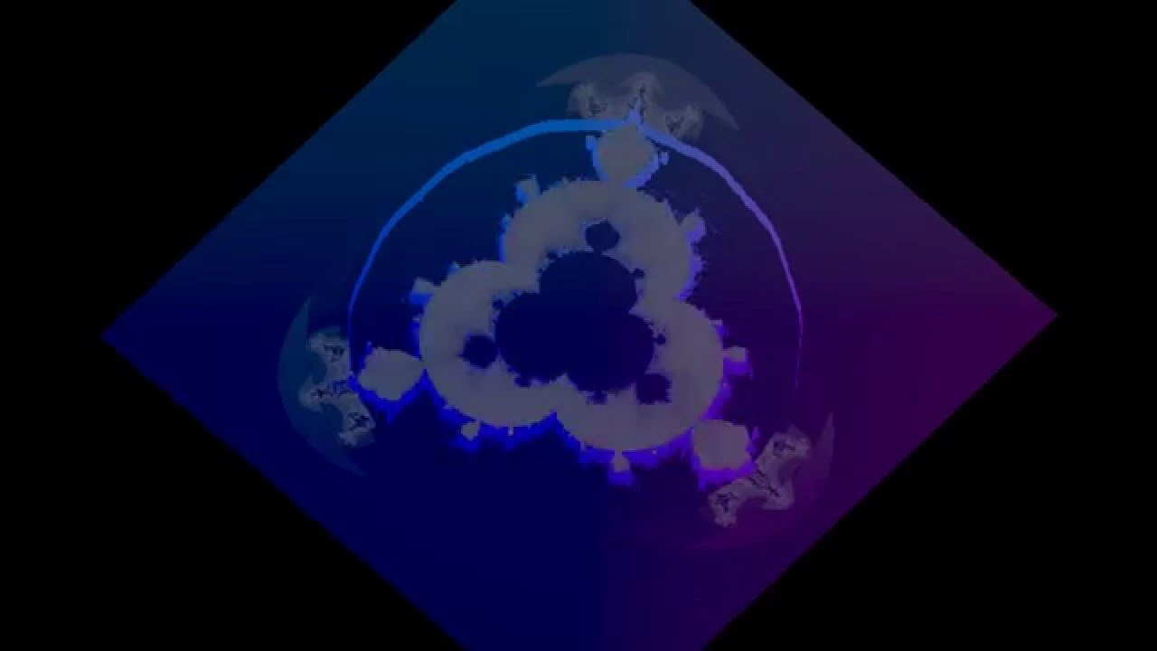 Mandelbrot Fractal in 3D (Blender, scipy, numpy) with iterations