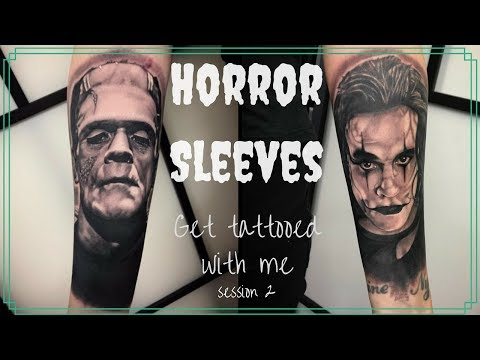 Horror sleeves ! | Tattoo vlog with Creature From The Black Tattoo