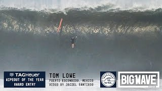 Tom Lowe at Puerto 2 - 2016 TAG Heuer Wipeout Entry - WSL Big Wave Awards