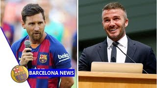 David Beckham opens talks with Lionel Messi over huge MLS move for Barcelona star- news now