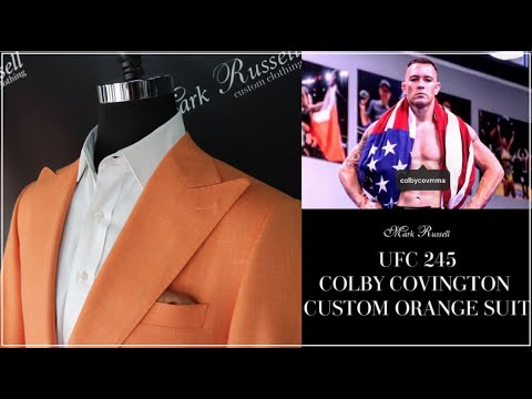 Colby Covington Ufc 245 Orange Custom Suit Mark Russell Clothing Youtube