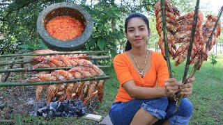 Amazing cooking shrimp grilled with chili recipe  Amazing video