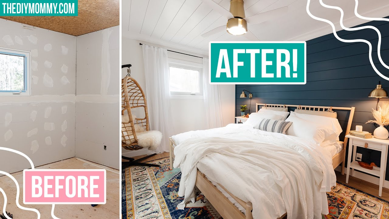 EXTREME BEDROOM MAKEOVER before & after + FAST & EASY painting tips