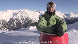 Almdudler Snowpark Soelden: Snowboard Park Checkout - 27-01-2013