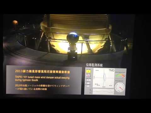 Taipei 101 Tuned Mass Wind Damper (moving)