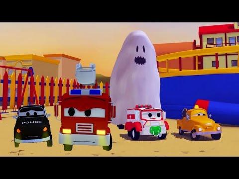 Монстр траки: гонка на Хэллоуин! Кто же будет быстрее? Мультики про машинки для детей