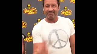 Instagram: Gillian Anderson Films David Duchovny at Spooky Empire 2018