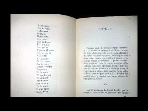 Dino Campana -- Canti orfici - 1928