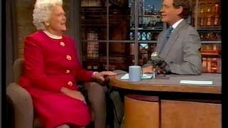 Barbara Bush on Letterman (t 1994)