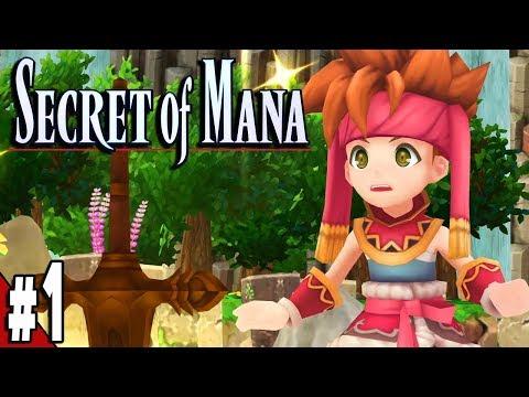 Secret of Mana Remake PS4 Part 1 SWORD OF MANA Gameplay Walkthrough