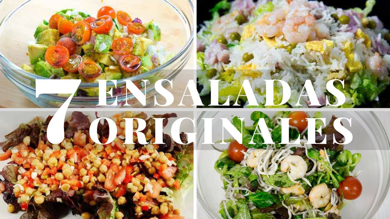 7 ensaladas originales y f ciles youtube - Ensaladas light para cenar ...