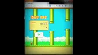 How to beat Floppy Bird - FireFox Game Genie