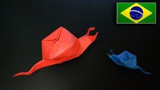 Origami: Caracol Inflável - Instruções em Português PT-BR