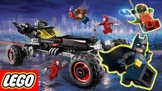 Распаковка Лего фильм бэтмен Бэтмобиль lego batman movie trailer трейлер 1 2 3 4  обзор новинки 2017