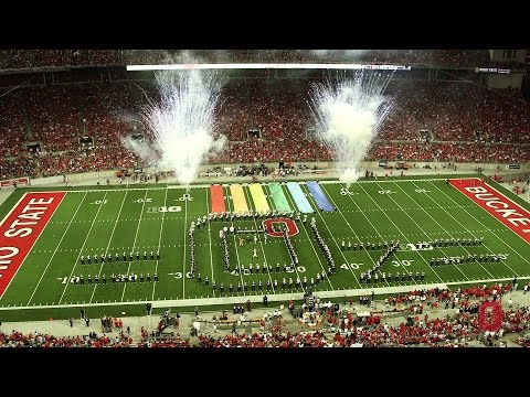 The Ohio State University Marching Band September 27 halftime show: The Wizard of Oz