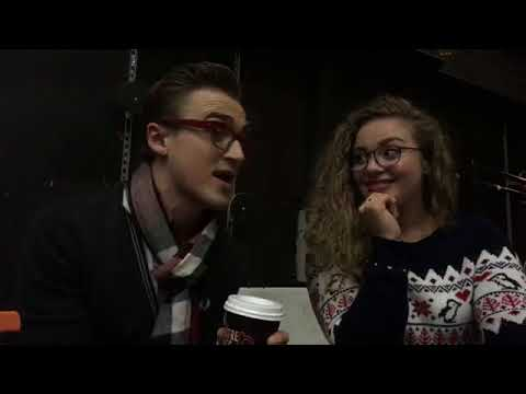 Tom Fletcher and Carrie Hope Fletcher talk the Christmassaurus The Theatre Cafe