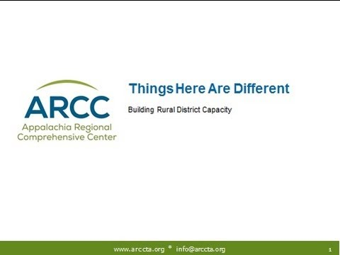 Things Here Are Different: Building Rural District Capacity (July 16, 2013)