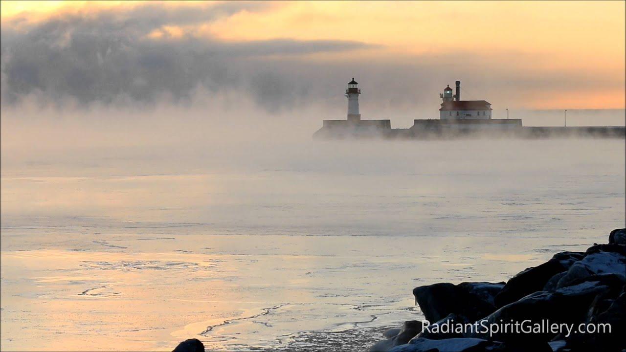 Lake Superior Sea Smoke - YouTube | title