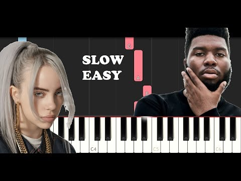 Billie Eilish - Lovely ft Khalid - 13 Reasons Why 2 (SLOW EASY PIANO TUTORIAL)