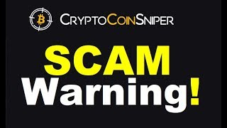 Crypto Coin Sniper Review - Dangerous SCAM! (Proof Inside)