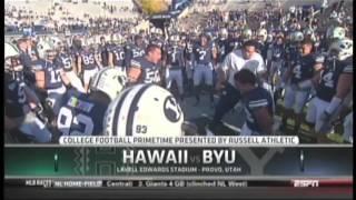 Hawaii Haka vs. BYU Haka 2012 LaVell Edwards Stadium Provo Utah