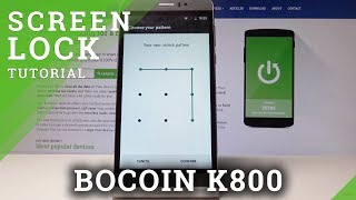 How to Add Screen Lock Protection in BOCOIN K800 - Set Up PIN & Pattern