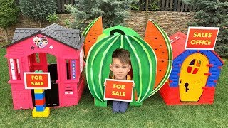 Vania and kids stories about playhouses
