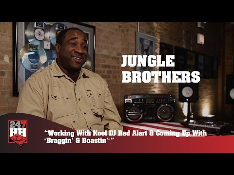 "Jungle Brothers - Kool DJ Red Alert And Coming Up With ""Braggin' & Boastin'"" (247HH Exclusive)"